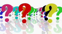 Question marks episode 2 Stock Footage