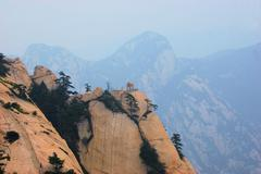 Chess pavilion at mt hua shan, china Stock Photos