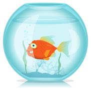 Stock Illustration of gold fish in aquarium