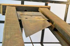 Vanha giljotiini käytetään teloituksista Kuvituskuvat