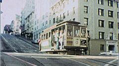 San Francisco CABLE CAR STREET SCENE 1970s Vintage Film Home Movie Stock Footage