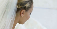 Beautiful bride smiling naturally Stock Footage