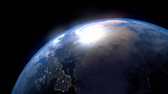 Earth Day to Night - stock footage