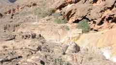 Stones in canyon. Socotra island, Yemen Stock Footage