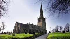 St John's Church Bromsgrove - England Stock Footage
