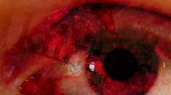 Killings fast eye horror abstract Stock Footage