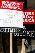 Writers Guild of America Strike 2008 K - stock photo