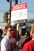 Writers Guild of America Strike 2008 F - stock photo