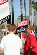 Writers Guild of America Strike 2008 D - stock photo