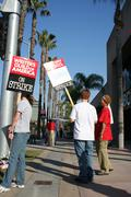 Writers Guild of America Strike 2008 E - stock photo