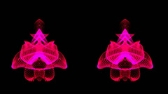Hot pink dual abstract motion waves Stock Footage