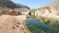 Basin in canyon. Socotra island, Yemen Stock Footage