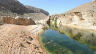 Stock Video Footage of Basin in canyon. Socotra island, Yemen
