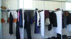 Changing room - stock footage