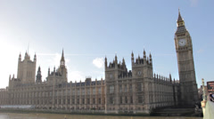 Big Ben  & houses of parliament London - stock footage