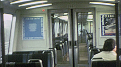 BART BAY AREA RAPID TRANSIT 1970s San Francisco 197Vintage Film Home Movie 7542 Stock Footage