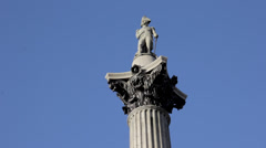 Nelsons Column London Close up Stock Footage