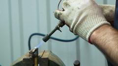 Stock Video Footage of Repairman soldering