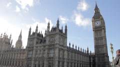 BigBen close up & houses of parliament London - stock footage