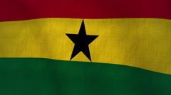 Ghana Flag Textured (Loop-able) Stock Footage