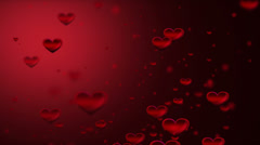 Romance background. Hearts. Stock Footage