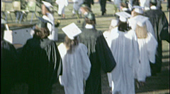 HIGH SCHOOL GRADUATION Graduates Ceremony 1960 Vintage Old Film Home Movie 7544 - stock footage