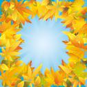 Stock Illustration of autumn leaves frame, nature background