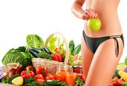 Stock Illustration of dieting. balanced diet based on raw organic vegetables