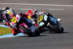 Stock Photo of ivan moreno pilot of moto2 of the cev championship