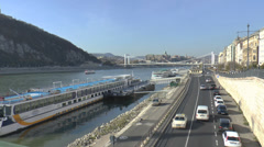 Budapest River Danube Stock Footage