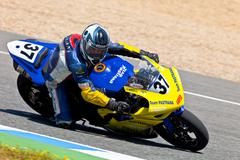 jorge arroyo pilot of stock extreme of the cev championship - stock photo