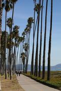 Santa Barbara Walk Way Stock Photos