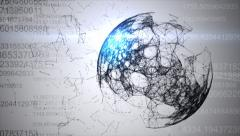 Sphere of data - stock footage