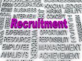 3d imagen about recruitment concept Stock Illustration