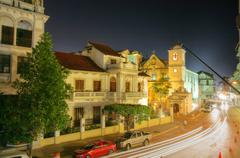 Stock Photo of panama city, casco viejo in the night