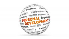 Personal Development Word Sphere Stock Footage
