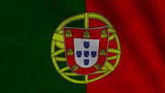 Portugal Flag transition LtoR with Alpha/Matte Stock Footage