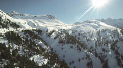 Aerial view Snow Mountains baqueira Stock Footage