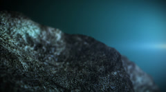 3d animation. Rotate stone in space Stock Footage
