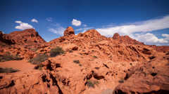 Valley Of Fire state park in Nevada time lapse Stock Footage