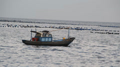 Boat at sea Stock Footage