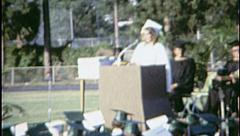 Valedictorian HIGH SCHOOL GRADUATION Day 1960 Vintage Old Film Home Movie 7548 - stock footage