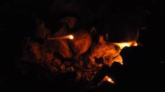 Campfire. Socotra island, Yemen Stock Footage