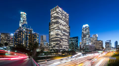 Downtown Los Angeles Time lapse. Stock Footage