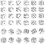 White dice Stock Illustration