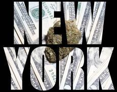 Medical marijuana, new york Stock Illustration