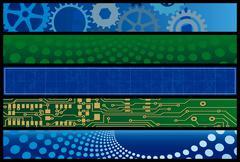Technology web banners Stock Illustration