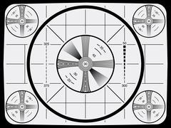 Television test pattern - stock illustration