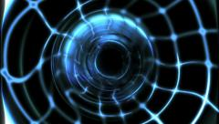 Light tunnel. Abstract high technology structure.  Stock Footage