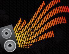 Speaker and equalizer audio background Stock Illustration